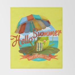 Hello summer and hello sea! Throw Blanket