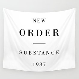 New Order Substance 1987 Wall Tapestry