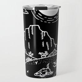 Desert Scene Illustration Invert Travel Mug