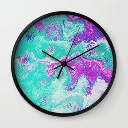 Bubble Gum Meringue Wall Clock
