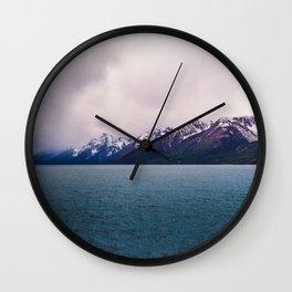 Eternity Here - Mountain Lake Wall Clock