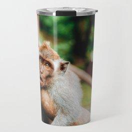 Cute Monkey (Color) Travel Mug
