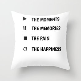 Fortunately wisdom motivation life funny gifts Throw Pillow