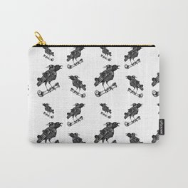 Two headed crow & Bone illustration Carry-All Pouch