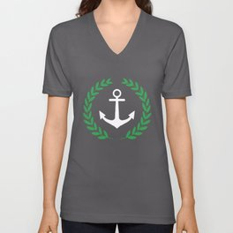 Anchor And Wreath Long Sleeve Pablo Escobar Narcos Anchor T-Shirts Unisex V-Neck