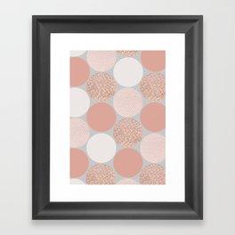 Rose Gold Dots Framed Art Print