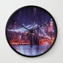 New York Panorama Wall Clock