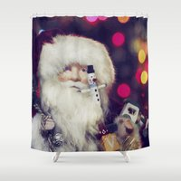 santa Shower Curtains featuring Santa by ThePhotoGuyDarren