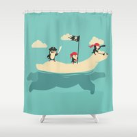 arctic monkeys Shower Curtains featuring The Scourge of the Arctic by Jay Fleck