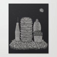 Fast Food City Canvas Print