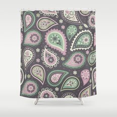 Soft romatic paisleys Shower Curtain