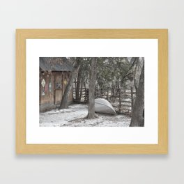 Cold Winters Day Framed Art Print