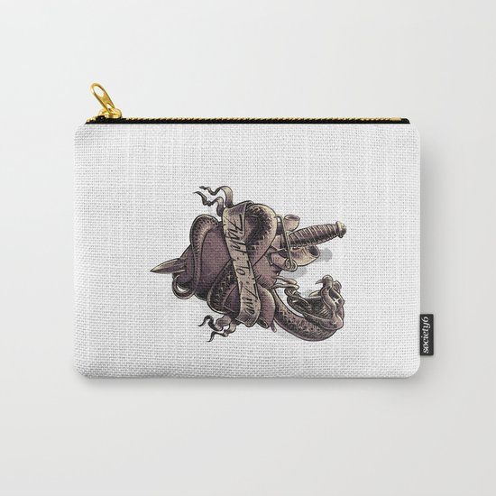 Fight To Live. Snake Heart and Dagger Carry-All Pouch