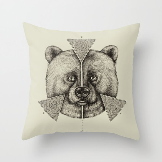 'Natural Symmetry' Throw Pillow