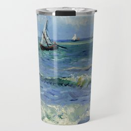 "Vincent Van Gogh ""The Sea at Les Saintes-Maries-de-la-Mer"" Travel Mug"