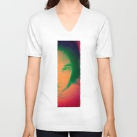 apollo V-neck T-shirts featuring Apollo incarnate by Angela Pesic