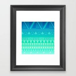 Blue Mayan Framed Art Print