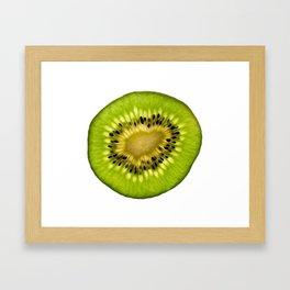 Half Kiwi Like green sun - Life is beautiful Framed Art Print
