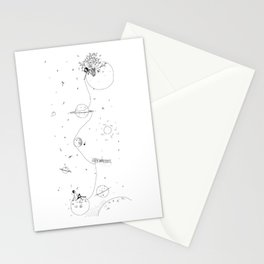 by the stars Stationery Cards