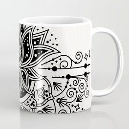 Lotus Blossom Mandala – Black Palette Coffee Mug