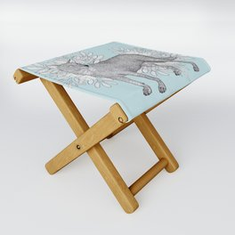 Floral Wolf Folding Stool