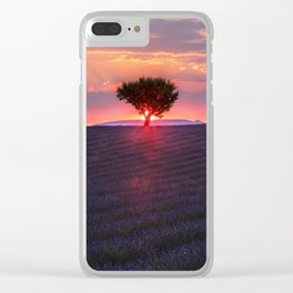 Lavender sunset in Valensole Clear iPhone Case