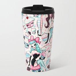 Cupcake Dolls Pattern Travel Mug