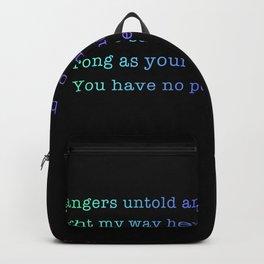 Through Dangers Untold Backpack