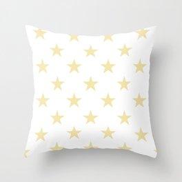Stars (Vanilla/White) Throw Pillow
