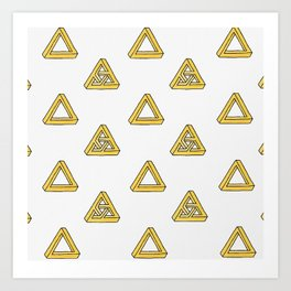 Penrose Triangles Art Print