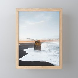 Black Sand Beach, South Iceland Framed Mini Art Print