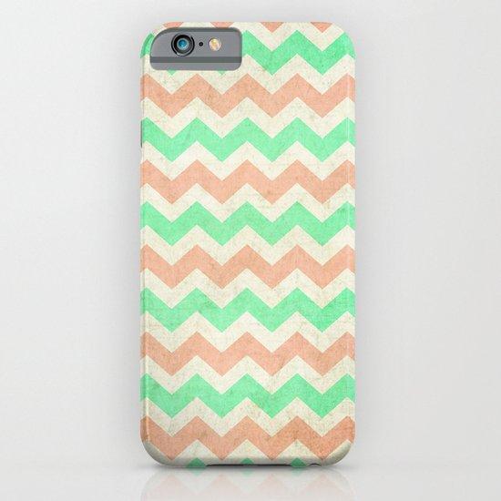 coral mint chevron iPhone & iPod Case
