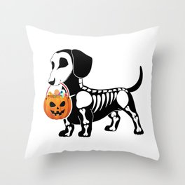 Doggy treat Throw Pillow