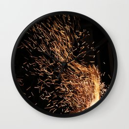 Forge in the wind Wall Clock