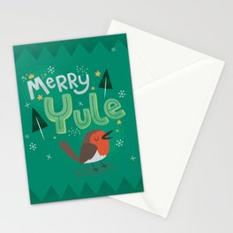 Merry Yule Greetings Design Stationery Cards