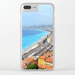 Nice France Coastline Clear iPhone Case