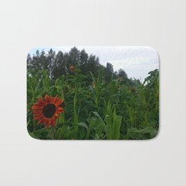 Sunflower and corn Bath Mat