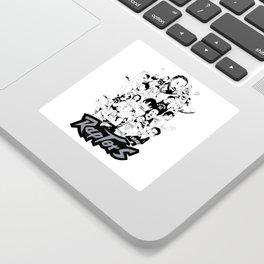 1995-2019 Raptors Sticker