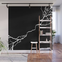Diagonal Destroyed Dark Wall Mural