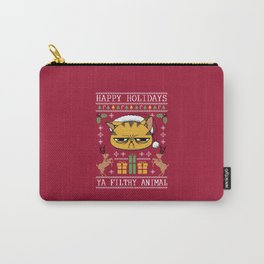 Ugly Holiday Sweater Cat Carry-All Pouch