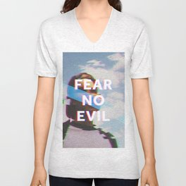 Fear No Evil  Unisex V-Neck