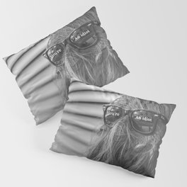 You're An Idiot! - Not Sasquatch or Chewbacca humorous rorschach black and white photograph  Pillow Sham