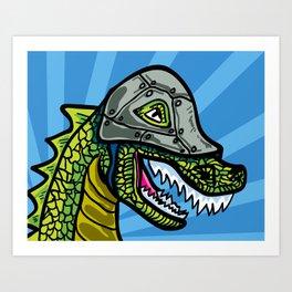 Warrior Dino (1 of 2 in Warrior Series) Art Print