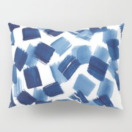 Indigo Brush Strokes | No.1 Pillow Sham