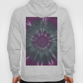 Purple Green Circle Tie Dye Ring Hoody