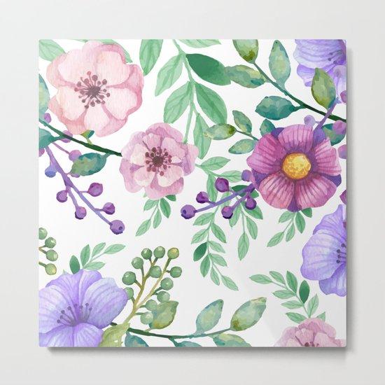 FLOWERS WATERCOLOR 13 Metal Print