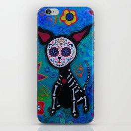 Dia de los Muertos Chihuahua Mexican Painting iPhone Skin
