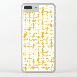Gold Abstract X Clear iPhone Case