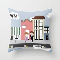 tfios Throw Pillows featuring Amsterdam (TFIOS) by Natasha Ramon