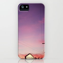 a december evening. iPhone Case